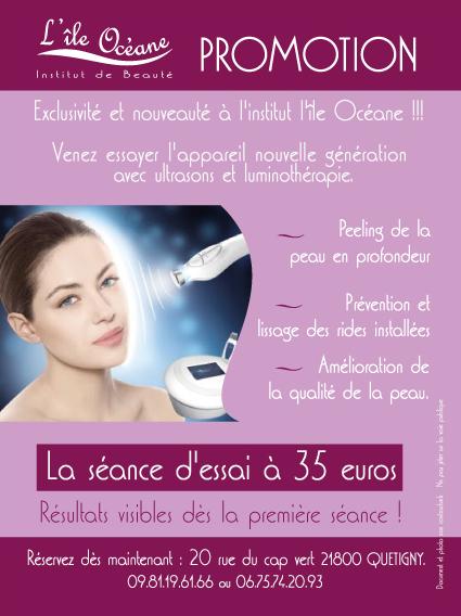 Offre spéciale luminothérapie et ultrasons soin de la peau soin du visage