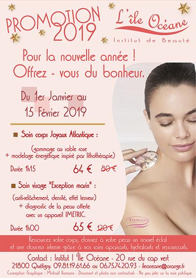 Offre promotionnelle année 2019 Institut de beauté